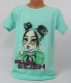 Dětské bavlněné tričko Billie Eilish - zelené