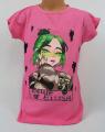 Dětské bavlněné tričko Billie Eilish - sv.růžové