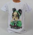 Triko krátký rukáv  Billie Eilish, dívčí tričkoBillie Eilish, oblečení  Billie Eilish, bavlněné tričko Billie Eilish, bílé tričko Billie Eilish   176