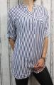 Dámská letní volná košile - bílo-černá- pruhy