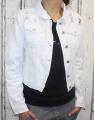 Dámská džínová bunda bílá - vel. XS - XL