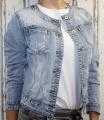 Dámská džínová bunda bez límce - sv.modrá - vel. XS - XL
