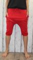 Dámské 3/4 kalhoty se spadlým sedem Baggy - červené
