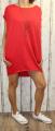 Dámské letní šaty, plážové šaty, dámská tunika, pohodlné šaty, dámské volné šaty, volná tunika, červené bavlněné šaty, červená tunika Italy Moda