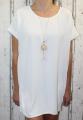 Dámské letní volné šaty s přívěskem - bílé