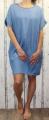 Dámské letní šaty - vzhled džínoviny