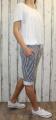 Dámské pruhované kraťasy dámské baggy pruhované kraťasy, šortky pruhy Italy Moda
