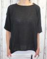 Dámské letní, volné triko/tunika - černá