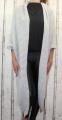 Dámský dlouhý pletený kardigan dámský dlouhý svetr, dlouhý letní svetr, dámský pletený kardigan, dámský pletený šedý kardigan Italy Moda