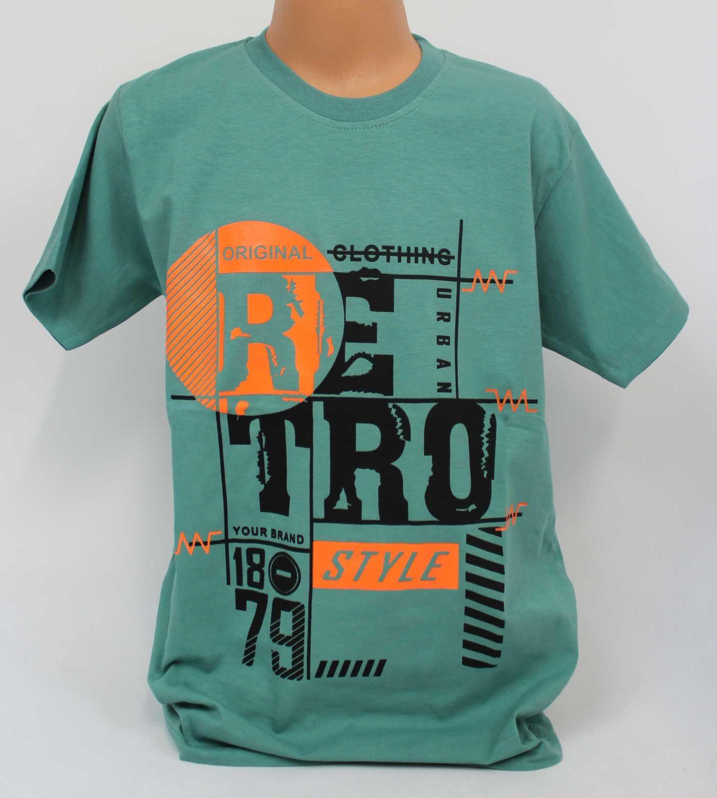 Triko krátký rukáv, bavlněné chlapecké tričko, mintové chlapecké tričko, triko krátký rukáv kluk, chlapecké triko