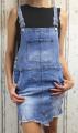 dámská džínová sukně s laclem, lacláčová sukně, džínová laclová sukně, dámská džínová sukně, dámské lacláčové šaty, džínové šaty | S