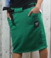 Dámská sukně, bavlněná sukně, sukně pod kolena, tepláková sukně, sukně se zavazováním, zelená sukně Italy Moda