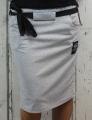 Dámská sukně, bavlněná sukně, sukně pod kolena, tepláková sukně, sukně se zavazováním, šedá sukně Italy Moda