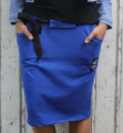 Dámská sukně, bavlněná sukně, sukně pod kolena, tepláková sukně, sukně se zavazováním, modrá sukně Italy Moda