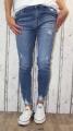 dámské elastické džíny, džíny skiny, dívčí elastické džíny, krátké džíny, modré džíny, džíny skiny, džíny s vysokým pasem, džíny s vyšším pasem, trhané džíny, krátké džíny | 30/M-L, 32/XL, 33/XL-XXL, 34/2XL, 36/4XL, 38/5XL