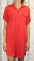 Dámské košilové šaty, dlouhá košile - červená