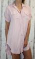 Dámské košilové šaty, dlouhá košile - růžová