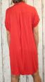 Dámské košilové šaty, dámská dlouhá košile, dámská košilová tunika, lehká dlouhá košile, košilové šaty, červená dlouhá košile Italy Moda
