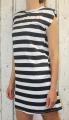 Dámské letní šaty, dámské bavlněné šaty s vycpávkami, dámské černo-bílé šaty, jednoduché černé šaty, bavlněné šaty Italy Moda