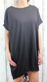 Dámské bavlněné šaty - volný střih  - černé