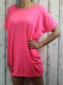 Dámské bavlněné šaty - volný střih  - růžové