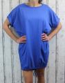 Dámské bavlněné šaty - volný střih  - modré