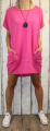 Dámské letní šaty, plážové šaty, dámská tunika, pohodlné šaty dámské šaty volný střih, tmavě růžové šaty