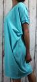 Dámské letní šaty, plážové šaty, dámská tunika, pohodlné šaty dámské volné šaty, tyrkysové volné šaty, široké šaty Italy Moda