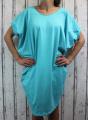 Dámské letní šaty, plážové šaty, dámská tunika, pohodlné šaty dámské volné šaty, tyrkysové volné šaty, široké šaty