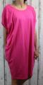 Dámské letní šaty, plážové šaty, dámská tunika, pohodlné šaty dámské volné šaty, tmavě růžové volné šaty, široké šaty