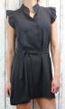 Dámské letní šaty bez rukávů s páskem - černé