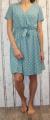 Dámské letní šaty, pohodlné šaty, dámské šaty s páskem, šaty se zavazováním, puntíkaté šaty, šaty s výstřihem Italy Moda