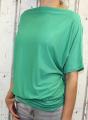 Dámské volné tričko - spadlá ramena - zelené