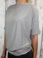 Dámské volné tričko - spadlá ramena - šedé