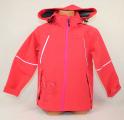 Jarní softshellová bunda - červená