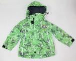 Šusťáková bunda KUGO - zeleno-šedá