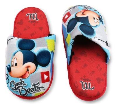 Bačkory, pantofle - MICKEY MOUSE - červené Disney