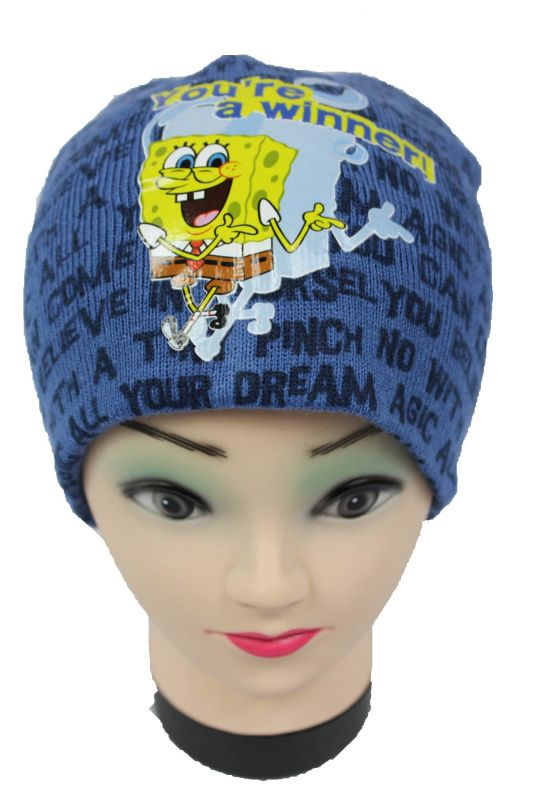 Čepice SPONGE BOB - modrá Nickelodeon