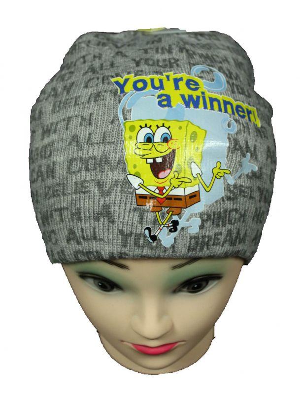 Čepice SPONGE BOB - šedá Nickelodeon