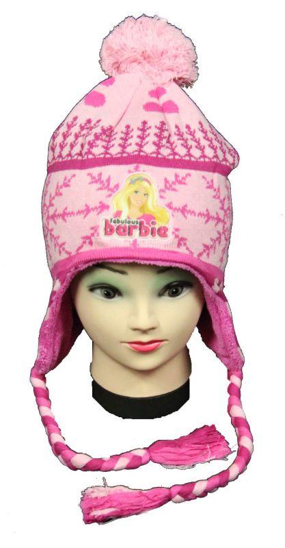 Čepice - ušanka - BARBIE - sv.růžová Disney