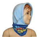 Dětská kukla s fleesem MIMONI - modrá