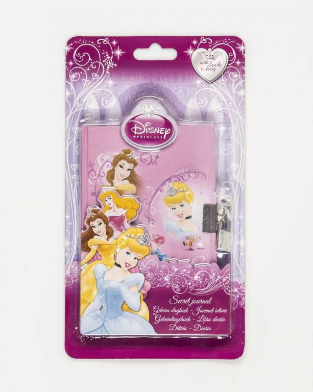 Diář, deník se zámkem Princess Disney