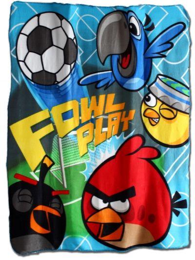 Fleesová deka - ANGRY BIRDS Rio