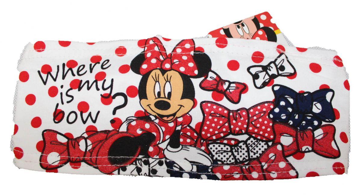 LÁTKOVÁ ČELENKA DO VLASTŮ - MINNIE- bílo-červený puntík Disney