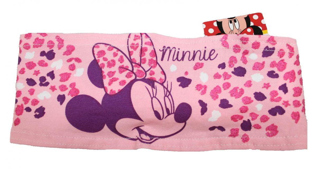 LÁTKOVÁ ČELENKA DO VLASTŮ - MINNIE- sv.růžová Disney