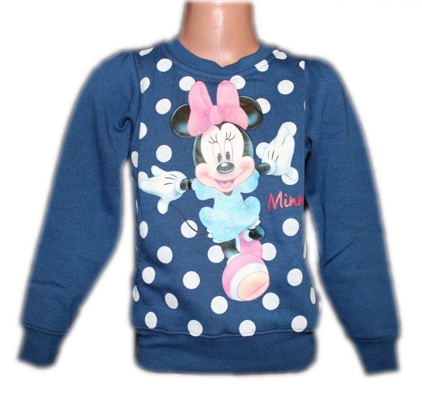 Mikina MINNIE s puntíky - modrá Disney