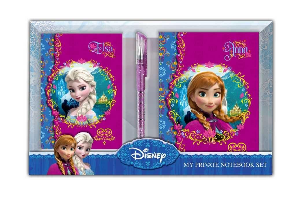SADA DVOU DIÁŘŮ + PERO - FROZEN Disney
