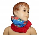 Šátek, nákrčník - CARS - červeno-modrý