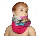 Šátek, nákrčník - FROZEN - růžový