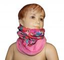 Šátek, nákrčník - FURBY - sv.růžový